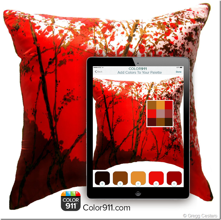 Color911 2 iPad in use - Pillow red DM 1 (002)