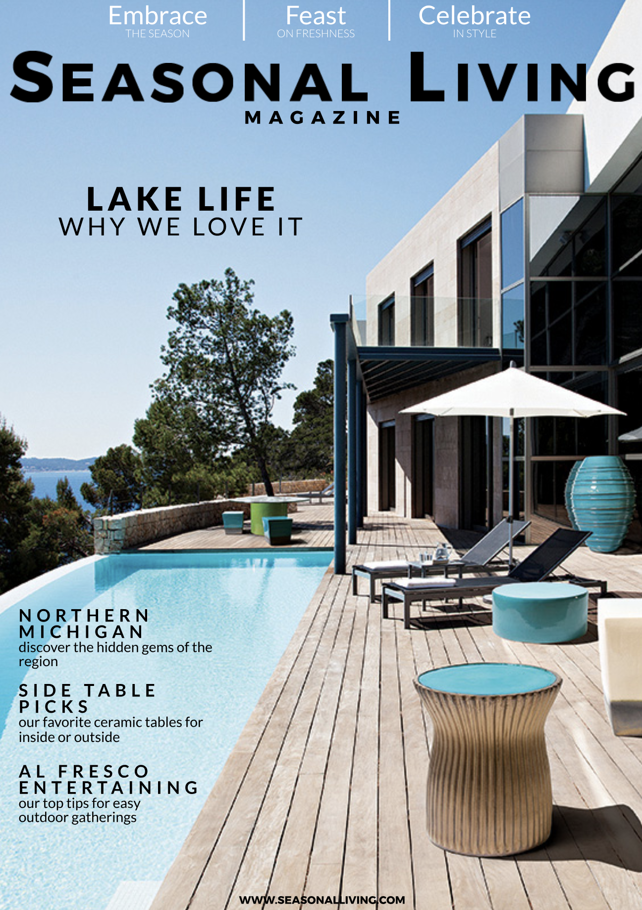 seasonal living, full online magazine, home accessories, savour partnership,